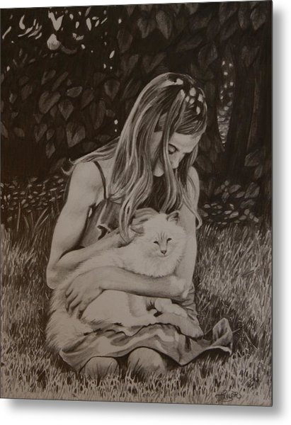 Kitty Love Metal Print