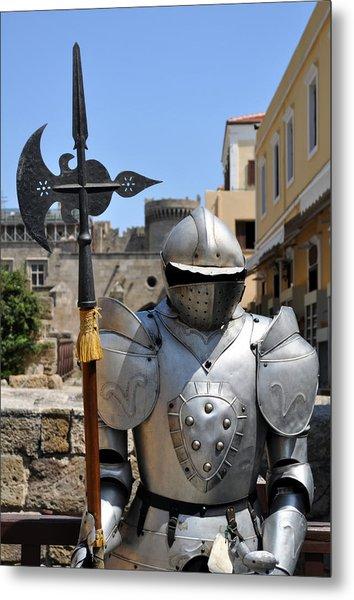 Knight Armor. Metal Print by Fernando Barozza