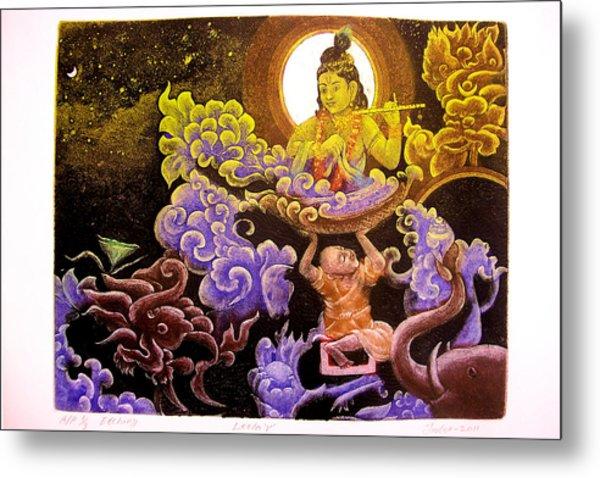 Krishna Leela Metal Print by Indra Khatri
