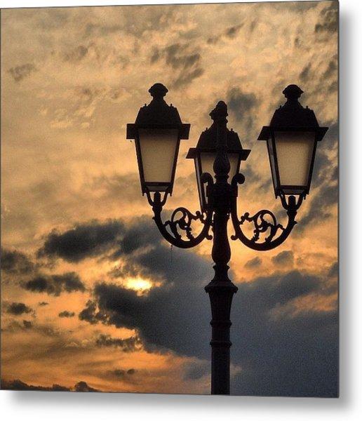 Lanterns At Sunset Metal Print