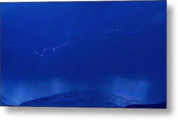 Lightning Metal Print by Peter Bolton