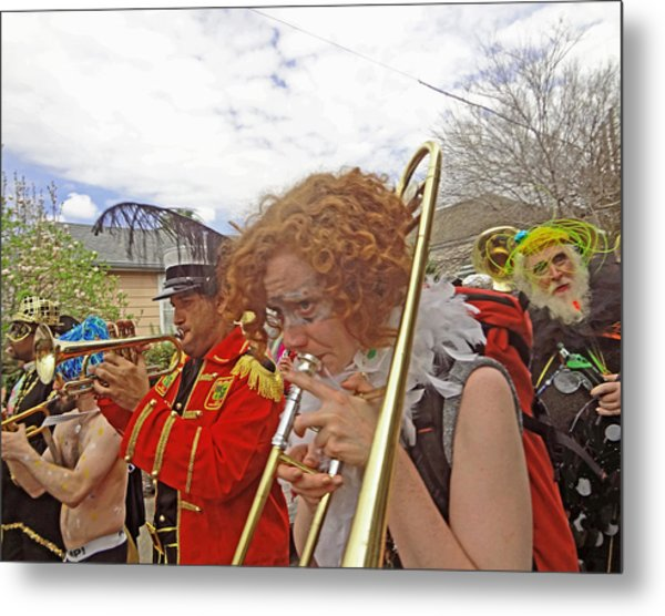 Mardi Gras Day In New Orleans Metal Print