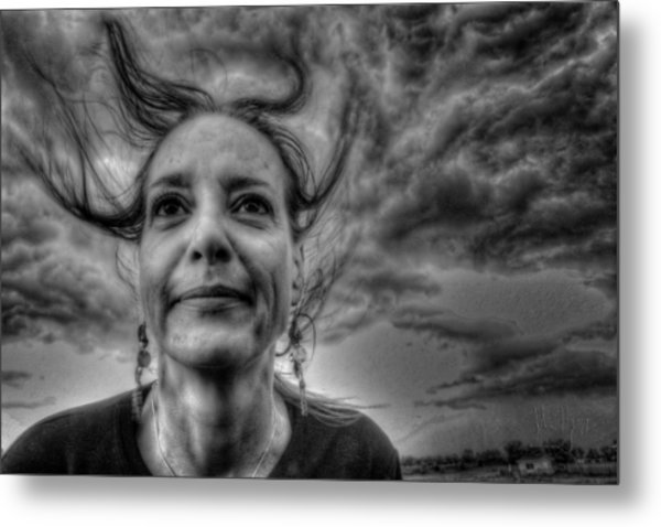 May-belle Chasing The Wind Metal Print