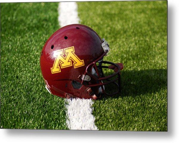 Minnesota Football Helmet Metal Print