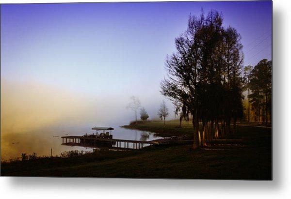 Misty Morning On Lake Jaunita Metal Print