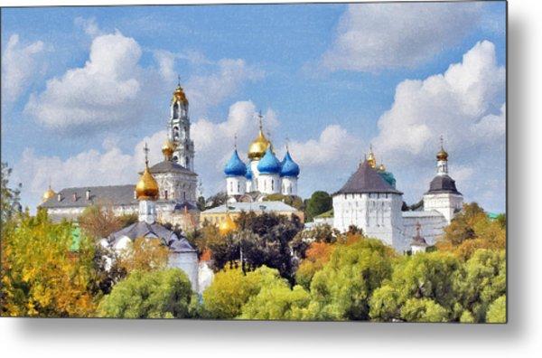 Monastery Panorama  Metal Print by Aleksandr Volkov