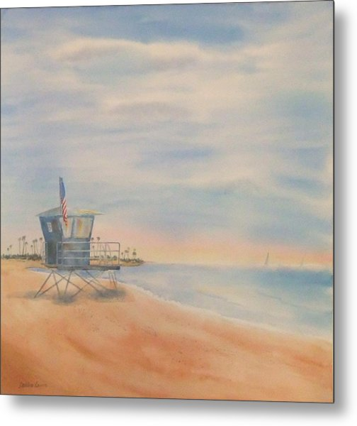 Morning By The Beach Metal Print