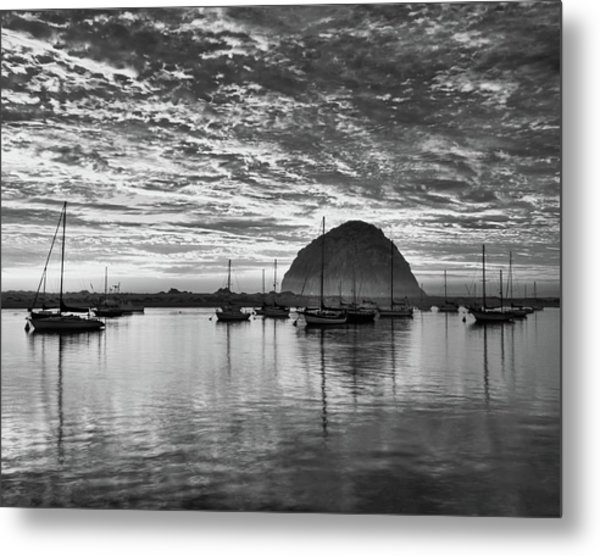 Morro Bay On Fire Metal Print