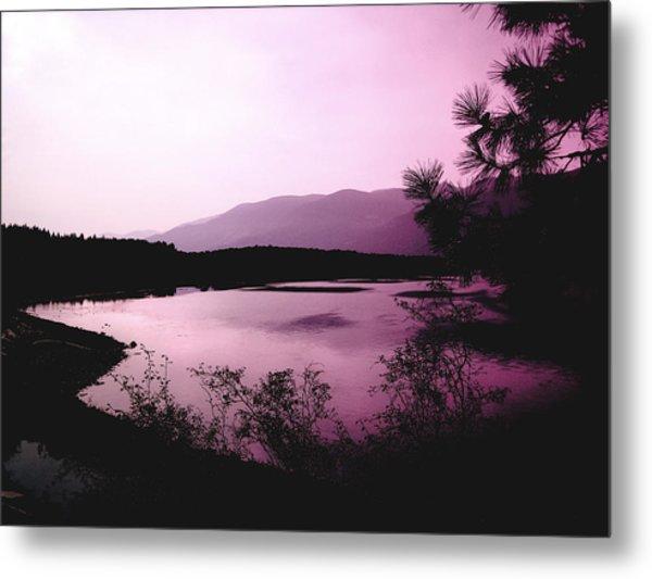 Mountain Twilight Metal Print by Ann Powell