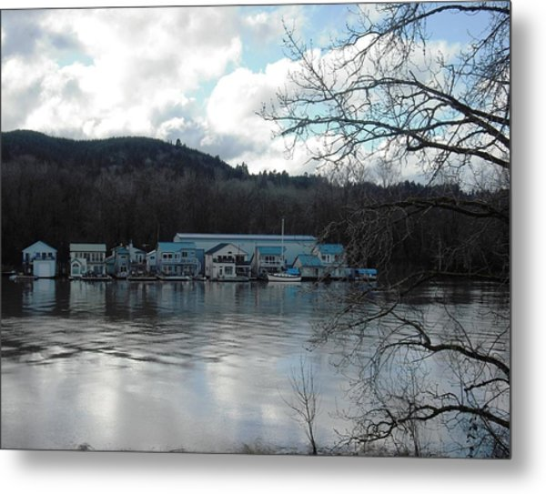 Multnomah Channel Sauvie Island Metal Print