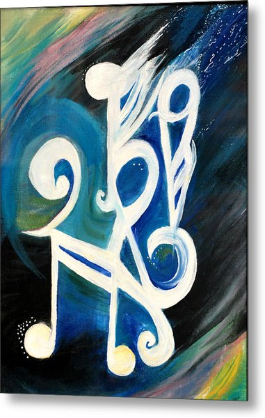 Music Firework Metal Print by Tifanee  Petaja
