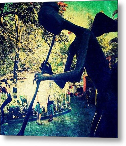 Musician Sculpture (puerto Vallarta) Metal Print