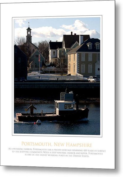 Nh Working Harbor Metal Print by Jim McDonald Photography