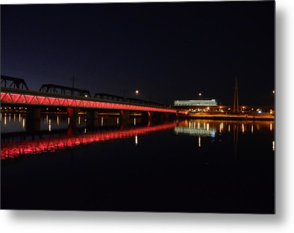 Night Lights Metal Print by Alberto Sanchez