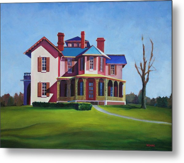 Metal Print featuring the painting Old House by Robert Henne