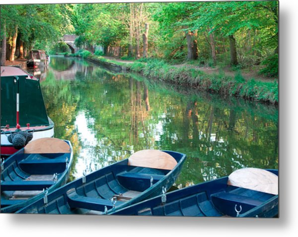 On The Canal Metal Print by Shirley Mitchell
