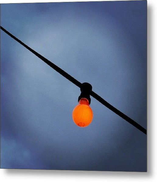 Orange Light Bulb Metal Print by Matthias Hauser