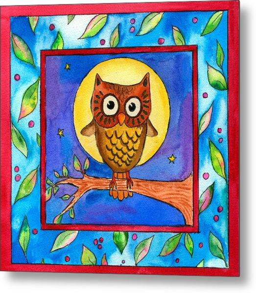 Owl Metal Print by Pamela  Corwin