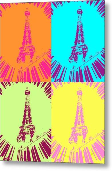 Paris In Vegas Metal Print by Amber Hennessey