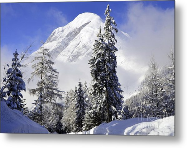 Peak In The Alps Metal Print