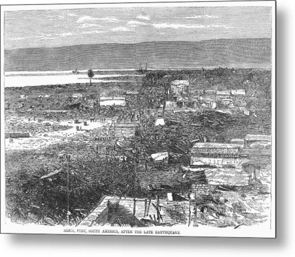 Peru: Earthquake, 1868 Metal Print