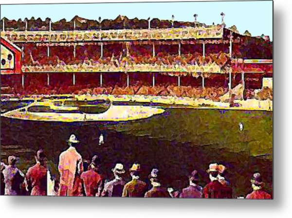 Polo Grounds In New York City 1920's Metal Print by Dwight Goss