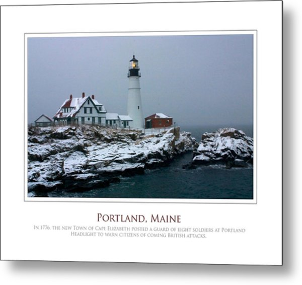 Portland Headlight Metal Print by Jim McDonald Photography