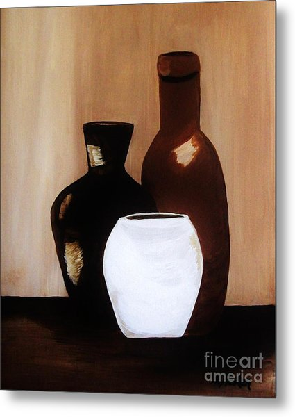 Pottery From Portugal  Metal Print by Marsha Heiken
