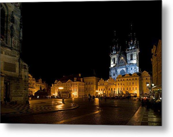 Prague City Square Metal Print