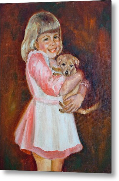 Puppy Love Metal Print by Holly LaDue Ulrich