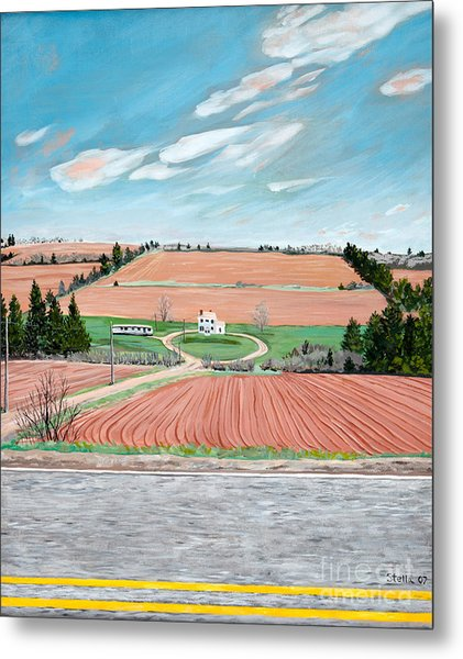 Red Soil On Prince Edward Island Metal Print