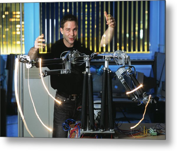 Robotic Arms Metal Print by Volker Steger