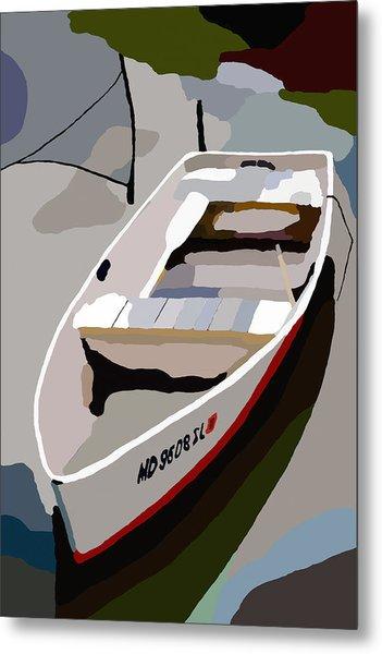 Row Boat San Damingo Creek Metal Print