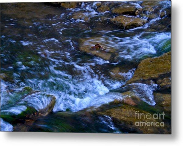 Rushing Water Metal Print by Royce  Gideon