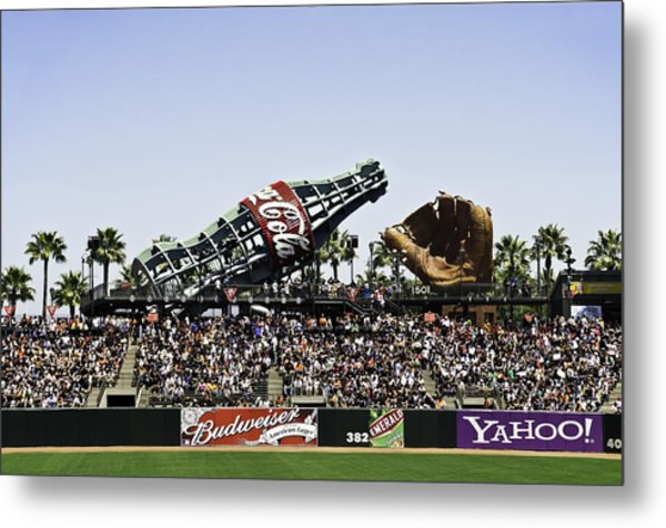 San Francisco Giants Baseball Park Metal Print