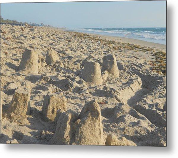 Sand Play Metal Print by Sheila Silverstein