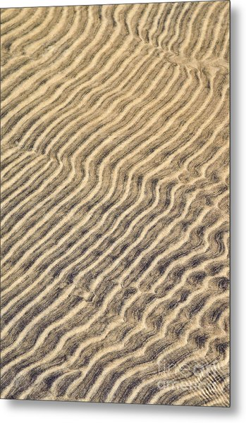 Sand Ripples In Shallow Water Metal Print