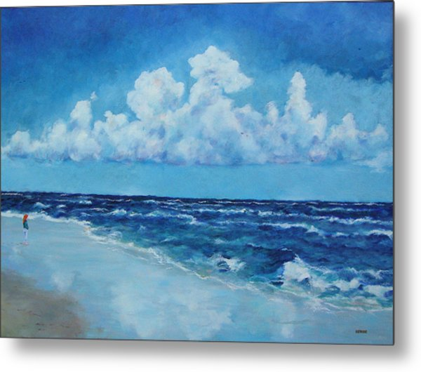 Metal Print featuring the painting Sea And Sky by Robert Henne