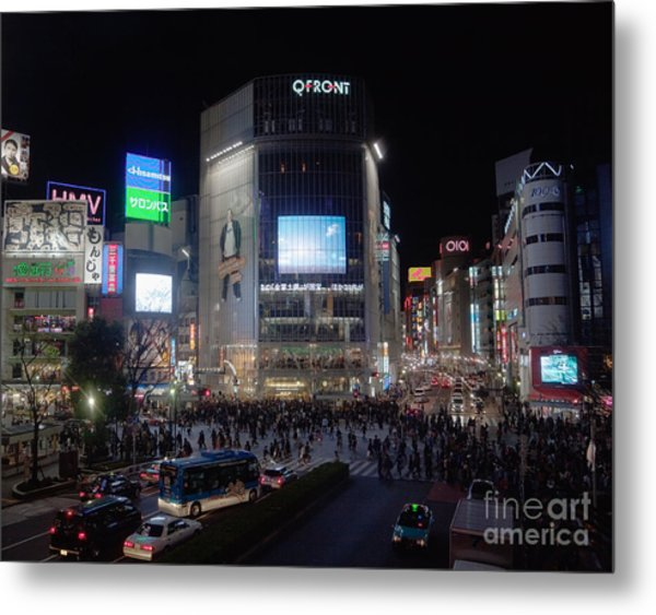 Shibuya Crossing Metal Print by Ei Katsumata