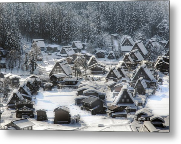Snowy Village Metal Print by Kean Poh Chua