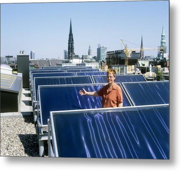 Solar Heat Collectors, Germany Metal Print by Martin Bond