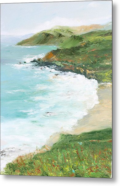 Somewhere On Big Sur Metal Print by Max Mckenzie