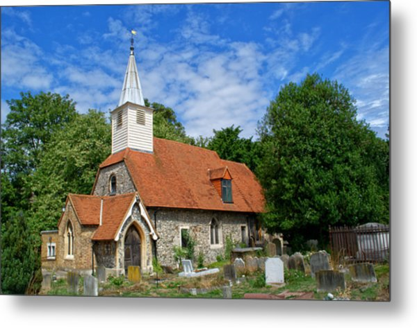 St Laurence Church Cowley Middlesex Metal Print