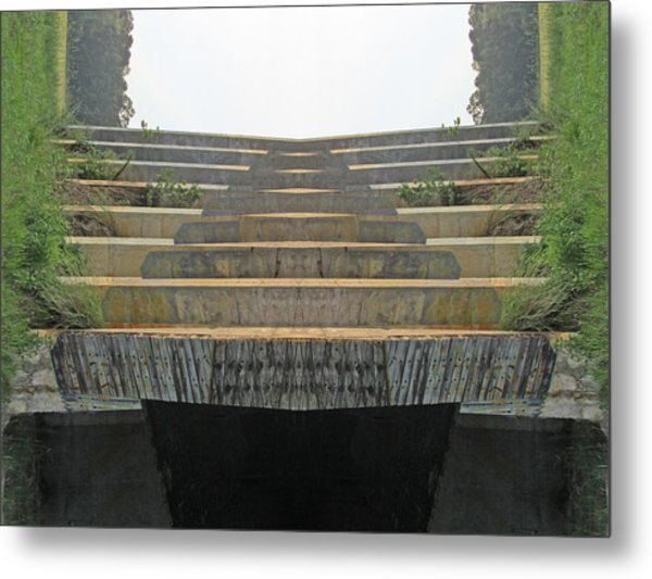Stairs Metal Print by Michele Caporaso