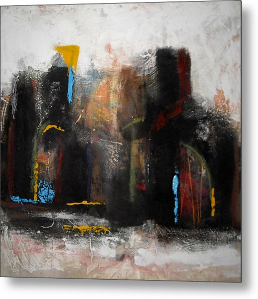 Street In Marrakech 2 Metal Print by Mohamed KHASSIF