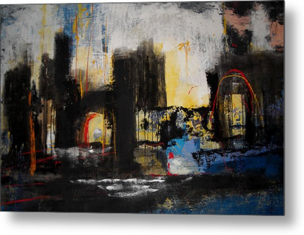 Street In Marrakech Metal Print by Mohamed KHASSIF