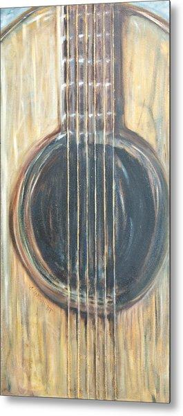 Strings Acoustic Sound Metal Print