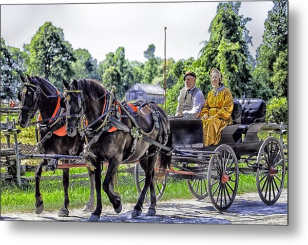 Sunday Buggy Ride Metal Print
