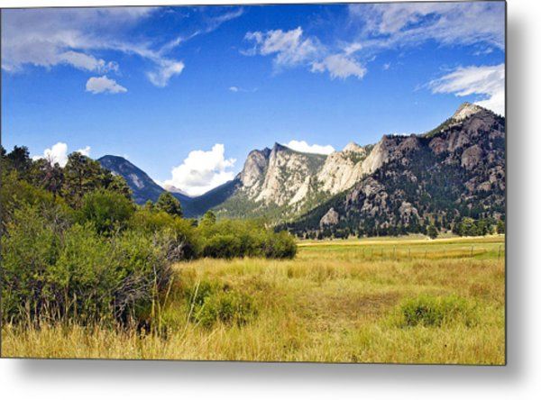 Sunset At Rocky Mountain Park Co. Metal Print