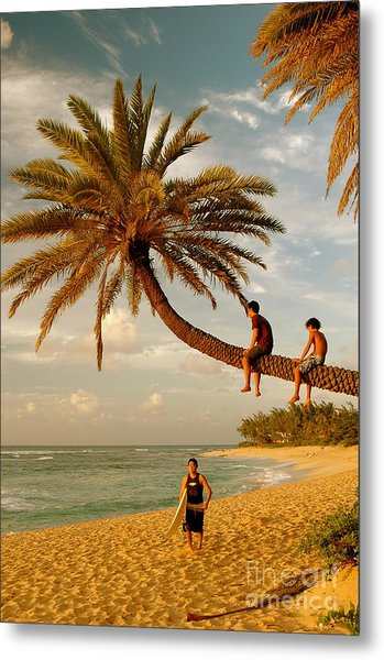 Sunset Beach Oahu Metal Print